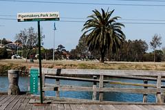 Maribyrnong River (wtewg) Tags: life tree water river spring october jetty australia victoria nikond50 13th 2015 maribyrnong