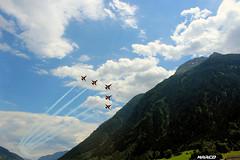 Tigers in the valley (Iceman_Mark) Tags: summer alps airplane switzerland ticino suisse tiger jet flyin ambri oris 2015 patrouille swissairforce