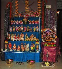 The world 39 s best photos of golu and navratri flickr hive for Navratri decorations at home