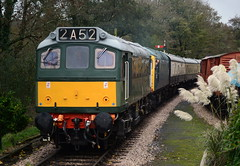 D7612 & D5343 at Staverton (jono85) Tags: green heritage train nikon br sdr diesel 26 south railway class line devon 25 vehicle locomotive preserved gala preservation staverton class26 class25 d3100 2c52