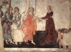 botticelli_venus_three_graces_gifts_young_woman_1484 (Art Gallery ErgsArt) Tags: museum painting studio poster artwork gallery artgallery fineart paintings galleries virtual artists artmuseum oilpaintings pictureoftheday masterpiece artworks arthistory artexhibition oiloncanvas famousart canvaspainting galleryofart famousartists artmovement virtualgallery paintingsanddrawings bestoftheday artworkspaintings popularpainters paintingsofpaintings aboutpaintings famouspaintingartists
