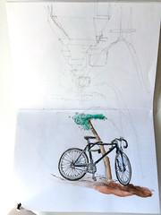 Bici en el rbol (Diego Prez Lpez) Tags: acuarelas errores bicis
