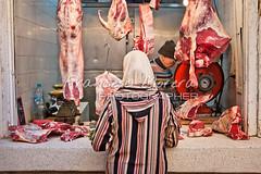Halal butcher in the medina (FM Photographer) Tags: africa fez medina marroc mercadomarket mujerwoman feselbali zocosouk
