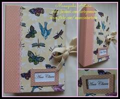 Porta-Documentos (Manezinha Arteira) Tags: artesanato passarinho libelula borboleta tecido portadocumentos artegemeas manezinhaarteira