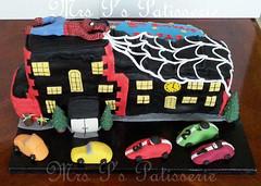 spiderman street scene (Mrs P's Patisserie) Tags: birthday cake spiderman