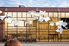 (Svein Skjåk Nordrum) Tags: street reflection building art lines facade explore installation oslos explored romforkunst oslosentralstasjon thewhitepaper