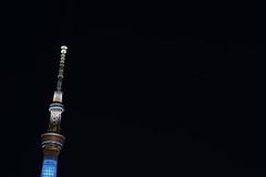 DSC_1114 (Zengame) Tags: tower japan architecture night tokyo nikon df illumination landmark illuminated jp   nikkor     skytree   tokyoskytree  afs58mmf14g afsnikkor58mmf14g prayforparis