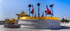 The Mausoleum of Genghis Khan (Rita Willaert) Tags: china statue cn inner mongolia mausoleum khan binnen innermongolia genghis genghiskhan mongoli baotou binnenmongoli eerduosishi neimengguzizhiqu statueofgenghiskhan