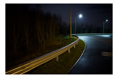 Elaenia (Barnaby Nutt) Tags: from road news lamp dark kirby streetlight long exposure shot motorway m1 pavement nowhere roundabout junction led more sodium muxloe 21a
