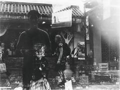 Me (Meljoe San Diego) Tags: selfportrait reflections hongkong blackwhite grain streetphotography lantauisland selfie ngongpingvillage meljoesandiego