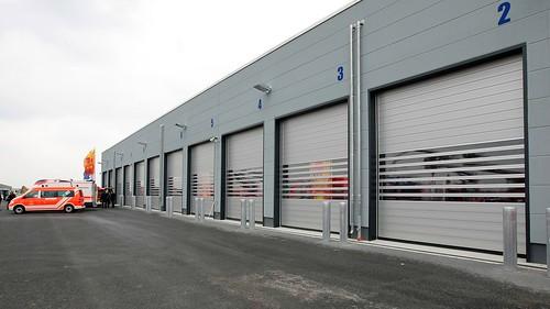 Скоростные ворота для пожарной части .  Hi speed doors. Efaflex.  Швидкісні ворота для пожежної частини. Flughafen Leipzig_0690