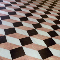 geometrical tiling (doc(q)man) Tags: abstract valencia contrast tile spain pattern floor mosaic steps decoration surface repetition symmetrical geometrical decor parallel docman rhythm trompeloeil identical silkmarket floortile geometrics lalonjadelaseda