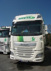 "DAF XF (face) ""Transports J-M ROUGIER et Fils"" (F-87) (xavnco2) Tags: pageas hautevienne france transports rougier camion truck trucks lorry autocarro lkw daf xf euro6 semiremorque benne bulk haulage semitrailer"