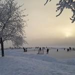 Snow, glitter, ice fog haze and magic in Alaska. thumbnail
