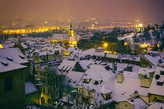 Zasněžená Praha (Honzinus) Tags: praha prague cz czech nalá strana city město petřín čechy česko evening večer praga prag zima winter