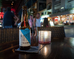 Local brew (Cheryl3001) Tags: playa del carmen sony rx100iv beer local brew mexico evening candle light street nik collection
