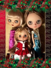 Flickr Advent Group & December Blythe-a-Day#8: You've been framed & #20: Holiday Cards: Daisy Buchanan's Holiday Photograph