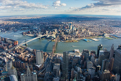 Manhattan + Brooklyn (peladomal ) Tags: newyork nyc ny newyorkcity nuevayork manhattan brooklyn brooklynbridge manhattanbridge eastriver