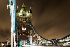 On The tower bridge - London (Bouhsina Photography) Tags: tower bridge londres lune croissant pont lumière angleterre bouhsina bouhsinaphotography canon 5diii ef1635 brillant ciel nuage