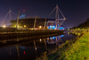 Cardiff Millennium Stadium (technodean2000) Tags: cardiff south wales uk nikon d5200 night skyline architecture d610 rugby ground world cup football stadium millennium bridge dusk outdoor city