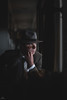 Train Noir (sengsta) Tags: bassendeanrailwaymuseum portraits ppg noir filmnoir 1940s maninsuit suit hat vintage