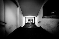 Secret Passage ... (Thomas Listl) Tags: thomaslistl blackandwhite noiretblanc biancoenegro night street wideangle fortress stairs 14mm