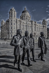 Bronze Beatles. jpg (Andrew Brammall Photography) Tags: liverpool fab four bronze mersey cunard lennon mccartney starr ringo harrison statues beatles