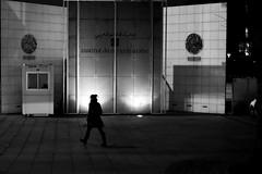 By going to the institute (pascalcolin1) Tags: paris institutdumondearabe nuit night femme woman lumière light ombre shadow photoderue streetview urbanarte noiretblanc blackandwhite photopascalcolin