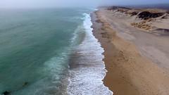 Moshup Beach, Martha's Vineyard (Chris Seufert) Tags: maushop mishap moshop marthasvineyard gayhead aquinnah newengland capecod fogq fog beach aerial drone