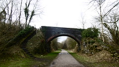 Monsal Trail -  overbridge nr Litton Dale (dave_attrill) Tags: bridge litton monsal trail dale station derby manchester buxton midland disused railway line trackbed footpath bridleway cycle path derbyshire peak district wye valley december 2016 winter closed 1968 barbara castle