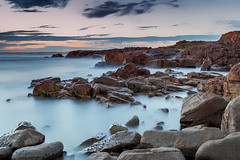 Rocky Bay (dean.white) Tags: australia au newsouthwales nsw portstephens annabay birubipoint rockybay beach surf ocean rocks waves sunset longexposure leelittlestopper canoneos6d canonef1635mmf4lisusm