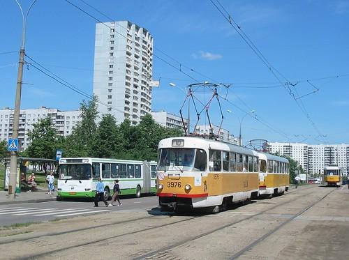 Moscow tram Tatra T3SU 3976