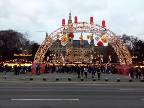 Rathaus e feirinha de natal