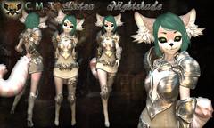 EC-Lutea Nightshade Silver Lime Kemono (EC-Eleran's Craft) Tags: ec crafts armor outfit fantasy magic warrior knight wizard mage mesh 3d zbrush substance painter sl secondlife gacha fgc armory kemono furry neko