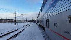 Coast Starlight Scenery (Adventurer Dustin Holmes) Tags: 2017 coaststarlight traintrip traintravel oregon sleepingcar amtrak train passengertrain snow winter