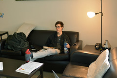 Color: Peter Cathey Study Break (Ggriffin2017) Tags: petercathey apartment study studybreak lunch food textbook couch waterbottle color light boulder colorado usa
