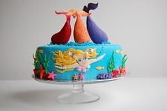 Violet's Mermaid Birthday Cake - Emma (CharmChang) Tags: ocean birthday fish cake underwater h2o adventures mermaid fondant