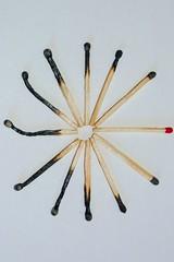 Run the Clock (EdFerreira515) Tags: abstract art clock fire time burn match matches abstrac