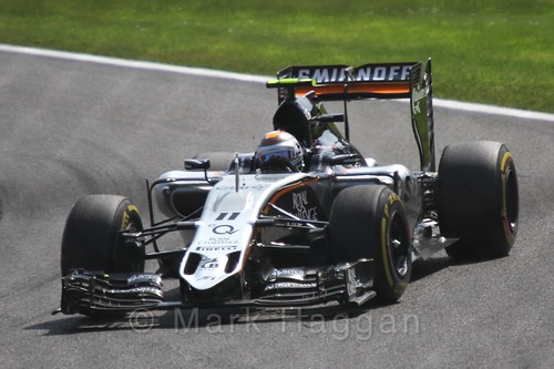 Sergio Perez in the 2015 Belgium Grand Prix