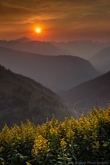 Smoky Sunset, Glacier National Park (law_kid) Tags: sunset nationalpark montana nps glaciernationalpark glacierpark