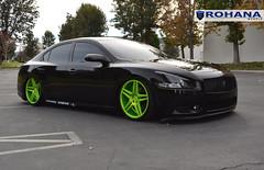 Nissan Maxima - RC8 Lime Green (7) (Rohana Wheels) Tags: nissan wheels rims concave maxima nismo rohana nissanmaxima rc8 4dsc rcseries rohanawheels nissanpower