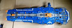 Hiigaran Battlecruiser WIP 16 (Stickers) (Rphilo004) Tags: ship lego space spaceship homeworld fleet spacecraft battlecruiser hiigaran shiptember