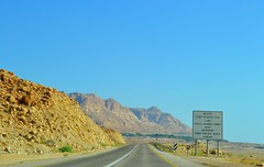 beware sink holes! (ekelly80) Tags: road summer mountains sign drive israel scenery view desert beware deadsea sinkholes desertroads august2015