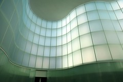 Waves (mikael_on_flickr) Tags: white blanco glass wall museum architecture hall waves wand bland museo weiss bianco architettura hvid onde arkitektur vetro blger mudec linescurves museodelleculture