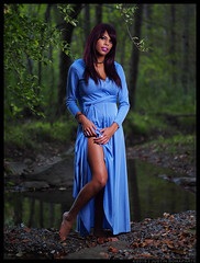 Ruby - Temptation (jfinite) Tags: halloween beauty fashion model woods dress legs environmental portraiture gown wooded