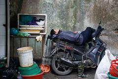 Chau Long Market, Tay Ho, H Ni, Hai Phong, Vietnam (silkylemur) Tags: sleeping man asia southeastasia nap market scooter vietnam siesta fullframe hanoi canoneos asean indochina 6d wetmarket vitnam  2015  wietnam vitnam  tayho hni   canonef24105mmf4lisusm  efmount     vietnamas canon6d      cnghaxhichnghavitnam  ngnam canoneos6d     azjapoudniowowschodnia   vijetnam  mainlandsoutheastasia      ef ef eos6d chaulongmarket hnuis      maritimesoutheastasia