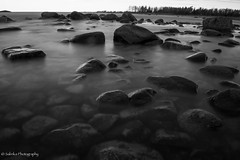 long exposure (salas-3) Tags: longexposure blackandwhite seascape water glass suomi finland blackwhite nikon stones nikkor pohjanmaa weldingglass thebalticsea