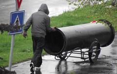 Street thief (TravelersOfOnePercent) Tags: street rain iron pipe thief fujifilm thug ostrava 2014 ulice d roura elezo potrub