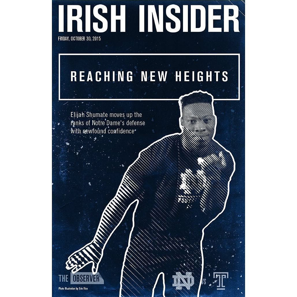 Safety Elijah Shumate Has Become A Steady Force In The Secondary And Is  Featured On This Week's Irish Insider Cover—read All About It Before Nd  Takes On