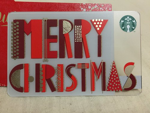Holiday Starbucks Card Merry Christmas 2015